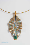 Blue and Antique Silver Stripes on Gold with Teal Cab