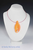 Magic Shell: Orange with Glass Pearl