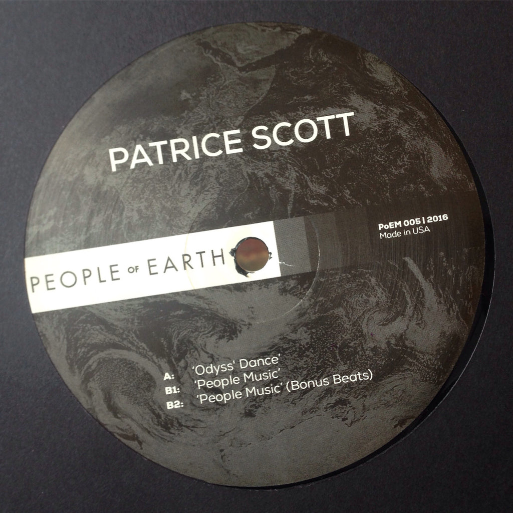 "Patrice Scott - People Music - 12"" - People of Earth - PoEM 005"