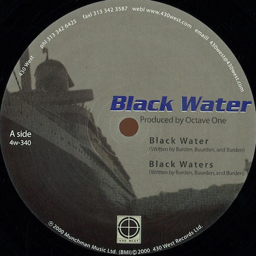 "Octave One - Black Water - 12"" - 430 West - 4w-340"