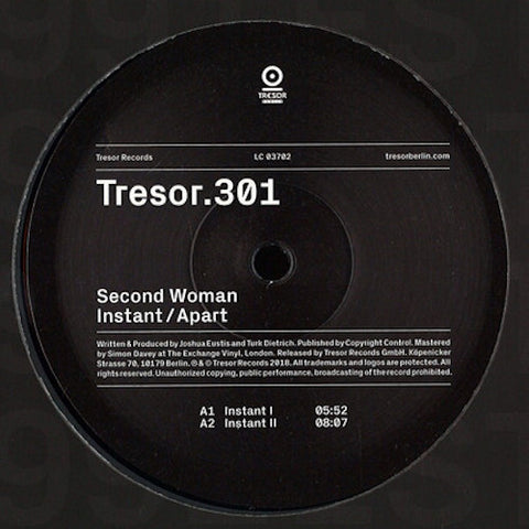 "Second Woman - Instant / Apart - 12"" - Tresor - Tresor.301"