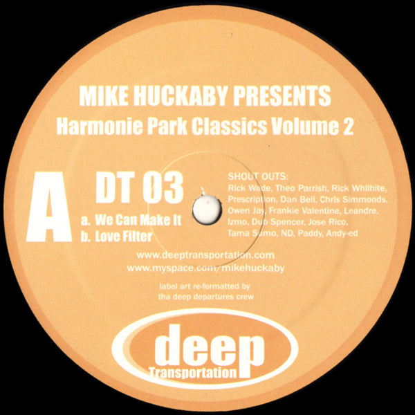 "Mike Huckaby - Harmonie Park Classics Volume 2 - 12"" - Deep Transportation - DT 03"