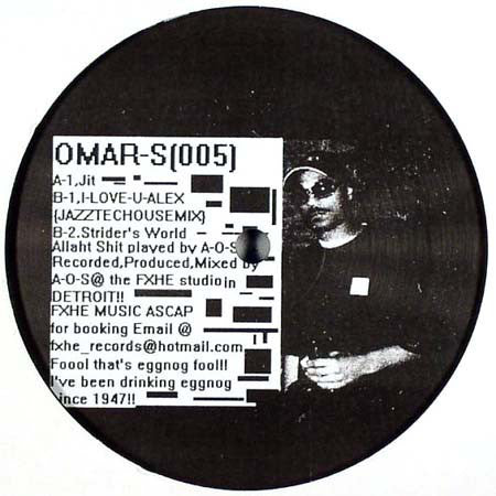 "Omar-S - 005 - 2x12"" - FXHE Records - AOS-5500"