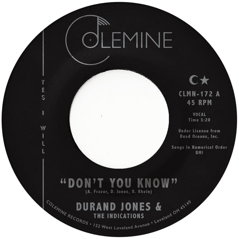 "Durand Jones & The Indications - Don't You Know - 7"" - Colemine Records - CLMN-172"
