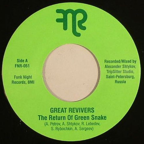"Great Revivers - The Return of Green Snake - 7"" - Fnr - FNR-051"
