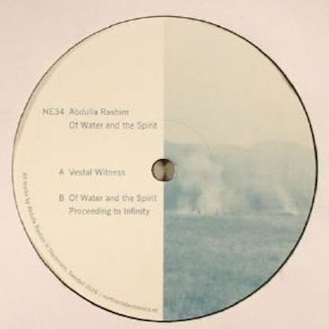 "Abdulla Rashim - Of Water and the Spirit - 12"" - Northern Electronics - NE34"