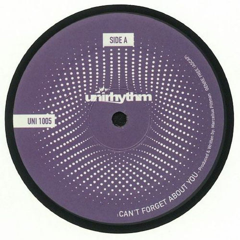 "Marcellus Pittman - Can't Forget About You - 12"" - Unirhythm - UNI1005"