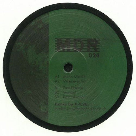 "#.4.26. ‎– Mono Middle - 12"" - Marcel Dettmann Records ‎– MDR 024"