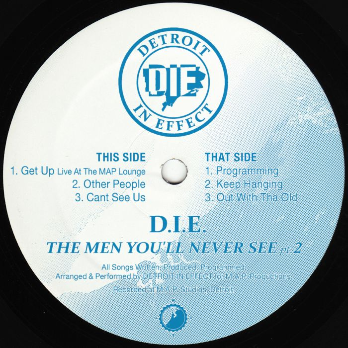 "D.I.E. ‎– The Men You'll Never See Pt. 2 - 12"" - Clone West Coast Series - CWCS010"