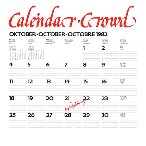 "Calendar Crowd - Perfect Hideaway - 12"" - Dark Entries - DE-199"