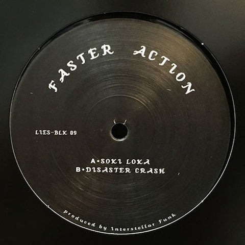 "Faster Action - 12"" - LIES-BLK09"