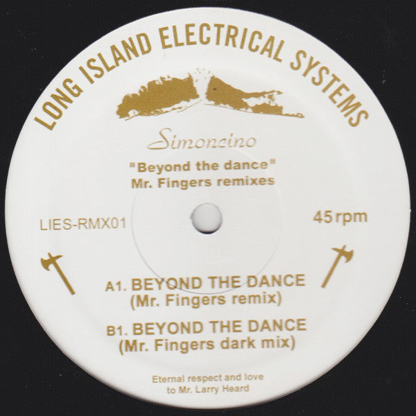 "Simoncino - ""Beyond the Dance"" Mr. Fingers Remixes - 12"" - LIES-RMX01"