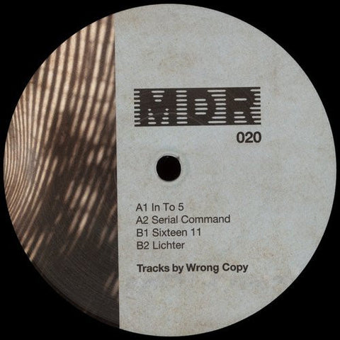 "Wrong Copy - In To 5 - 12"" - Marcel Dettmann Records - MDR 020"