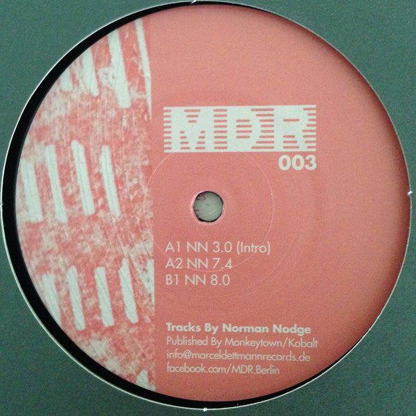 "Norman Nodge - NN 3.0 - 12"" - Marcel Dettmann Records - MDR 003"