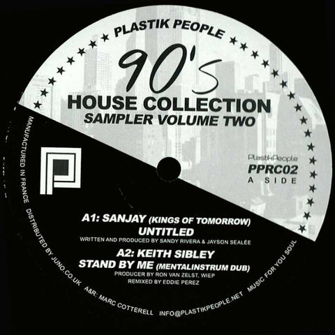 "VA - 90's House Collection Sampler Volume Two - 12"" - Plastik People Recordings - PPRC02"