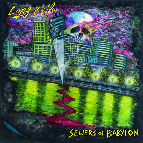 "Long Knife - Sewers of Babylon - 7"" - Beach Impediment Records - BIR-027"