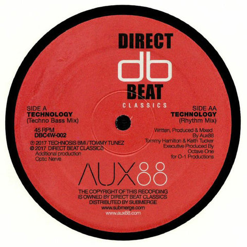 "Aux 88 - Technology - 12"" - Direct Beat Classics - DBC4W-002"
