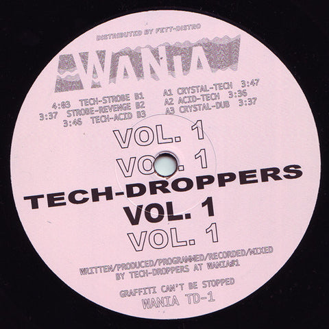 "Tech-Droppers - Vol. 1 - 12"" - Wania - WANIA TD-1"