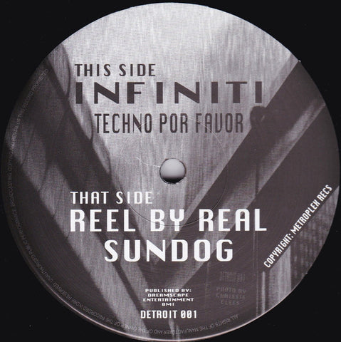 "Infiniti / Reel By Real - Techno Por Favor / Sundog - 12"" - Preservation Sound - DETROIT 001"