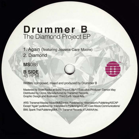 "Drummer B - The Diamond Project EP - 12"" - Transmat - MS088"