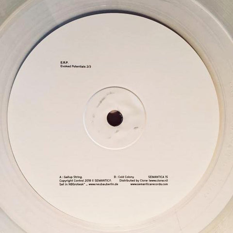 "E.R.P. - Evoked Potentials 2/3 - 10"" - Semantica Records - SEMANTICA 15"