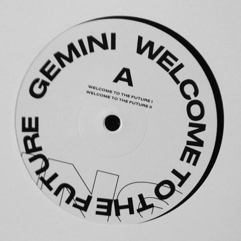 "Gemini - Welcome to the Future - 12"" - Anotherday Records - 0007AD-4"