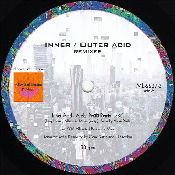"Mr. Fingers - Inner / Outer Acid (Remixes) - 12"" - Alleviated Records - ML-2237-3"