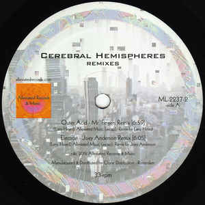 "Mr. Fingers - Cerebral Hemispheres Remixes - 12"" - Alleviated Records - ML-2237-2"