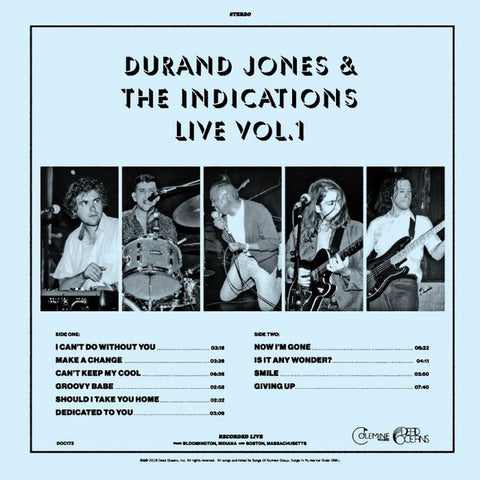 Durand Jones & The Indications - Live Vol. 1 - LP - Dead Oceans / Colemine Records - DOC 173LPC1