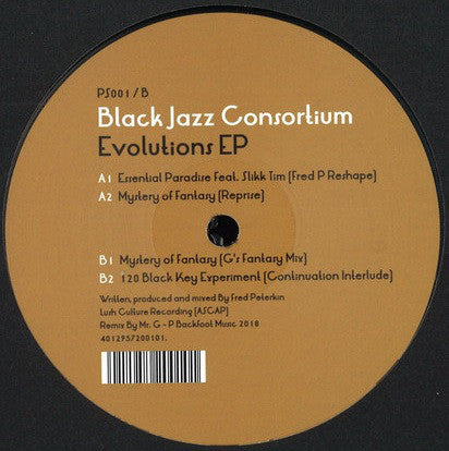 "Black Jazz Consortium - Evolutions EP - 12"" - Perpetual Sound - PS001"