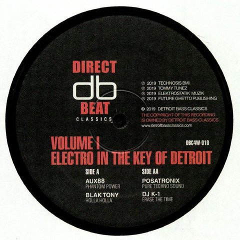 "VA - Electro in the Key of Detroit Volume 1 - 12"" - Direct Beat Classics - DBC4W-010"