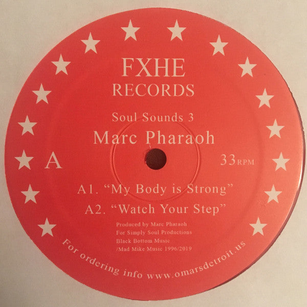 "Marc Pharaoh - Soul Sounds 3 - 12"" - FXHE Records - FXHESCMK#1"