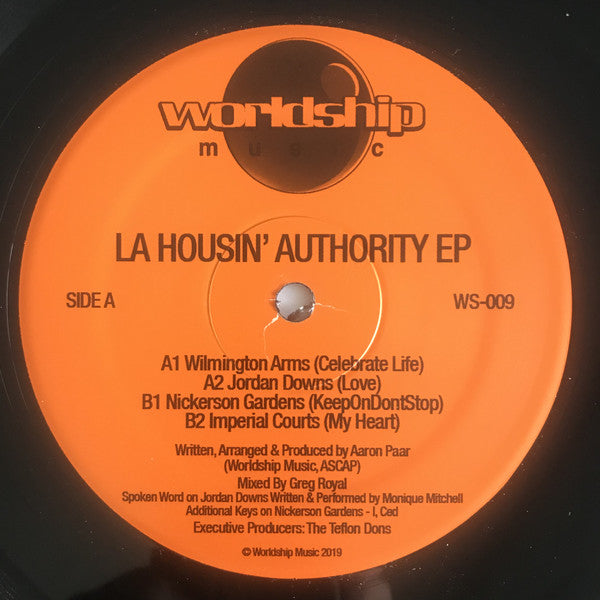 "LA Housin' Authority EP - 12"" - Worldship - WS-009"