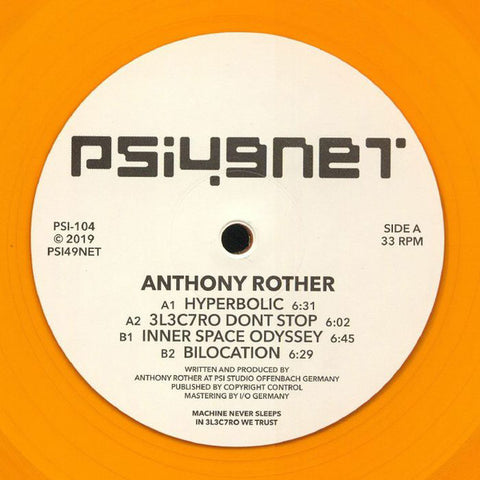 "Anthony Rother - Hyperbolic - 12"" - Psi49net - PSI-104"