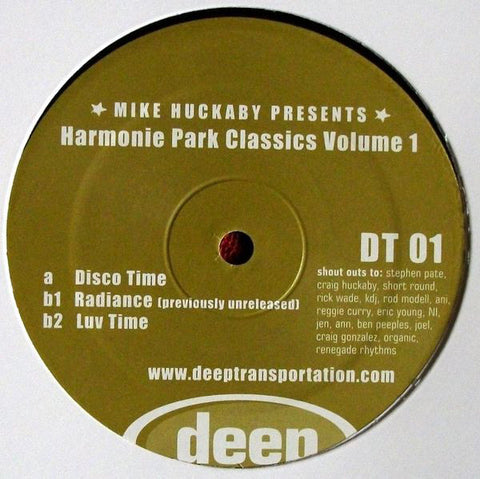"Mike Huckaby - Harmonie Park Classics Volume 1 - 12"" - Deep Transportation - DT 01"