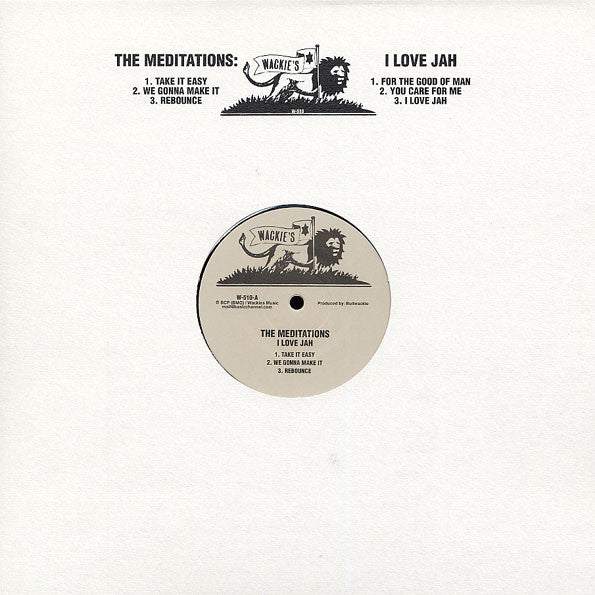 The Meditations - I Love Jah - LP - Wackie's - W-510