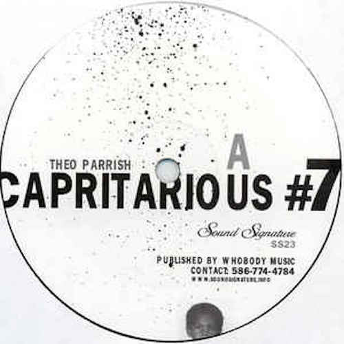"Theo Parrish - Capritarious #7 / Levels - 2x12"" - Sound Signature - SS23"