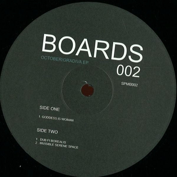 "October - Gradiva EP - 12"" - Soul People Music - SPMB002"