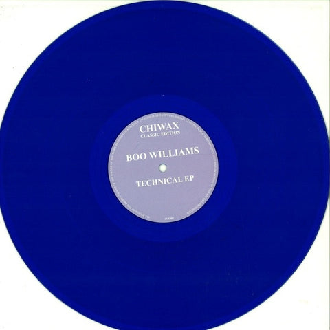 "Boo Williams - Technical EP - 12"" - Chiwax - CCE009"
