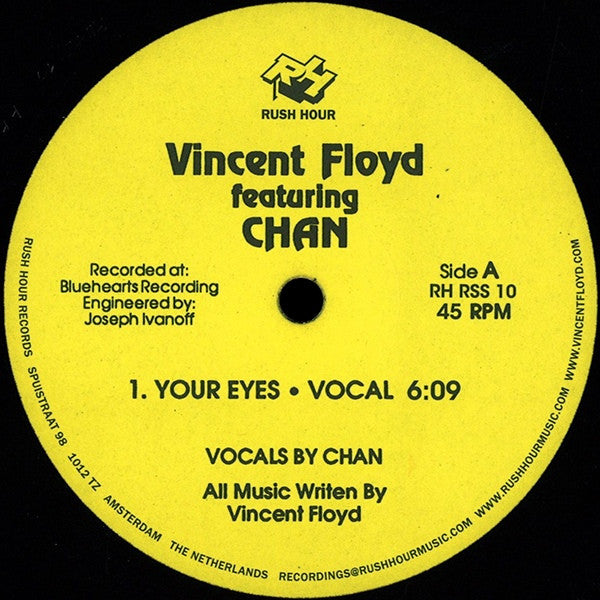 "Vincent Floyd - Your Eyes / I'm So Deep - 12"" - Rush Hour - RH-RSS 10"