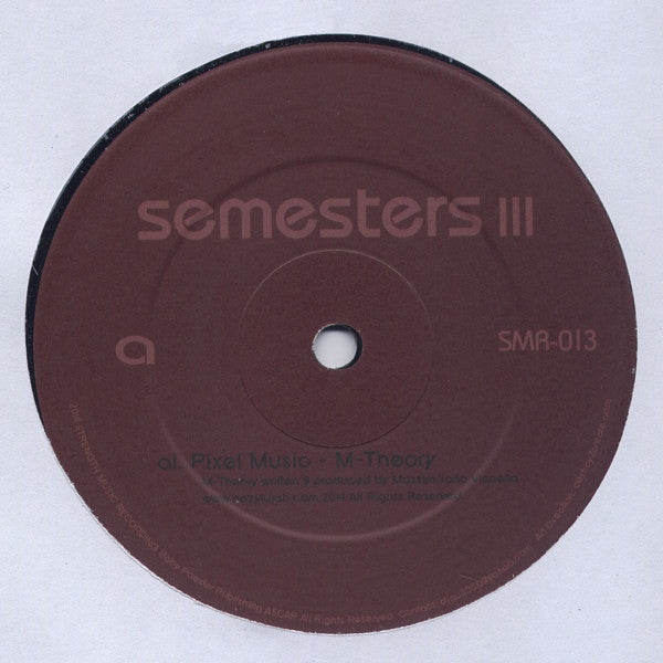"VA - Semesters III - 12"" - Strength Music Recordings - SMR-013"