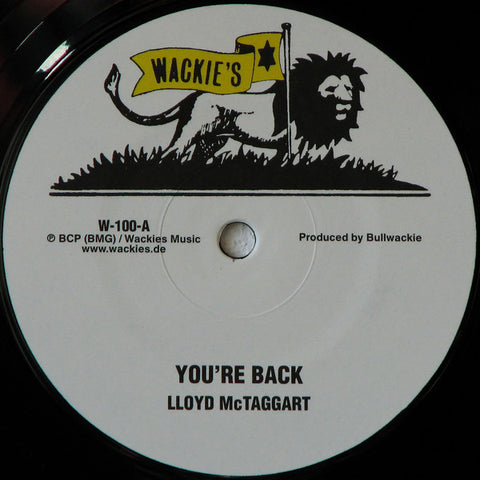 "Lloyd McTaggart - You're Back - 12"" - Wackie's - W-100"