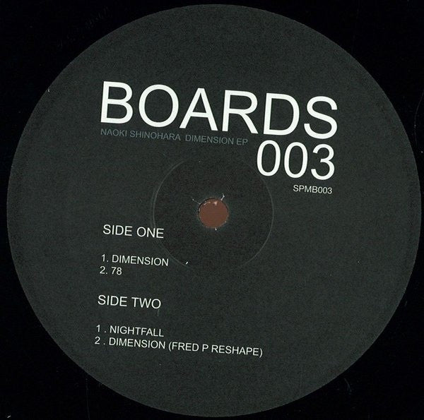 "Naoki Shinohara - Dimension EP - 12"" - Soul People Music - SPMB 003"