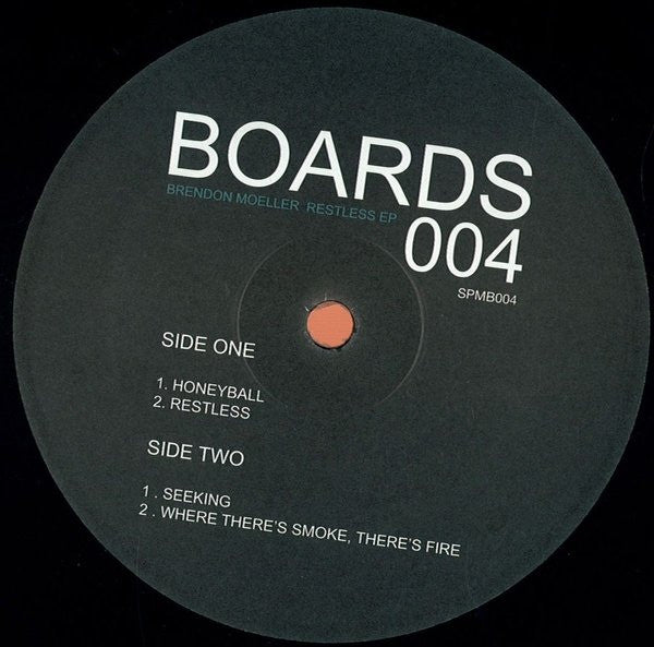 "Brendon Moeller - Restless EP - 12"" - Soul People Music - SPMB 004"