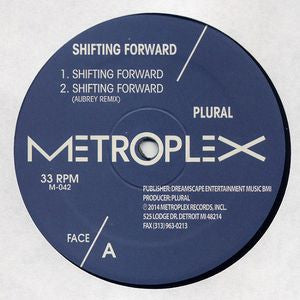 "Plural - Shifting Forward - 12"" - Metroplex - M 042"