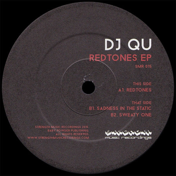 "DJ Qu - Redtones EP - 12"" - Strength Music Recordings - SMR015"