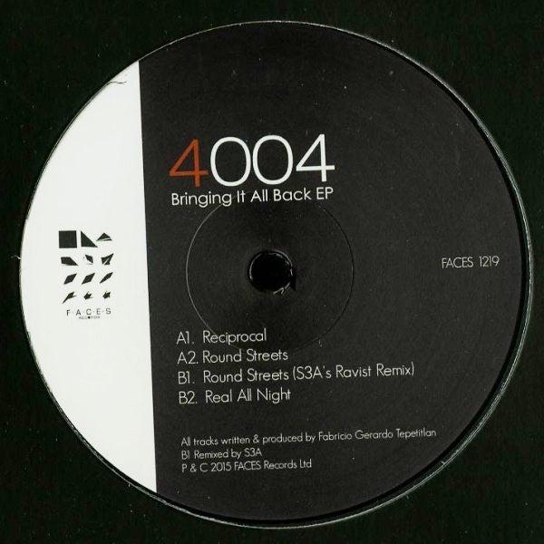 "4004 - Bringing It All Back EP - 12"" -  Faces Records - FACES 1219"