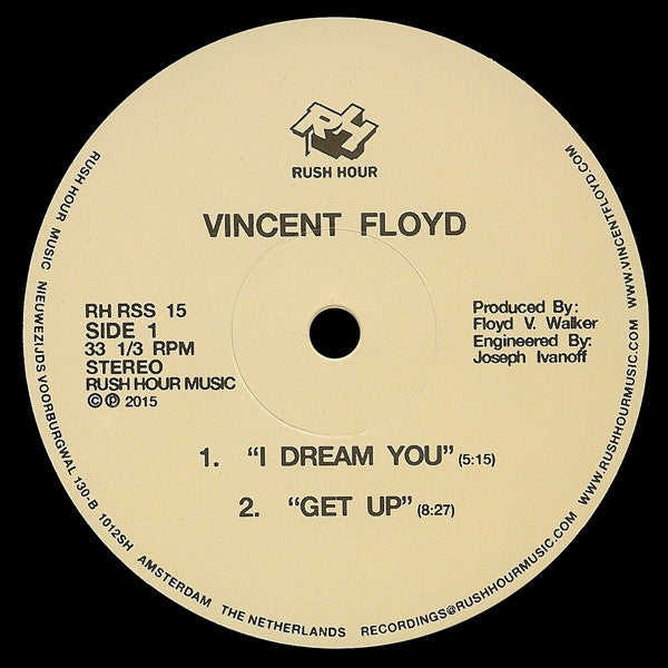 "Vincent Floyd - I Dream You - 12"" - Rush Hour - RH-RSS 15"