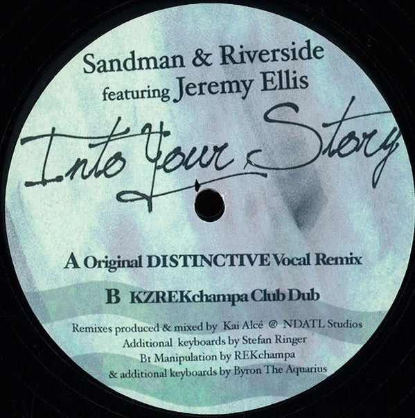 "Sandman & Riverside Featuring Jeremy Ellis - Into Your Story - 12"" - FFWD 013"