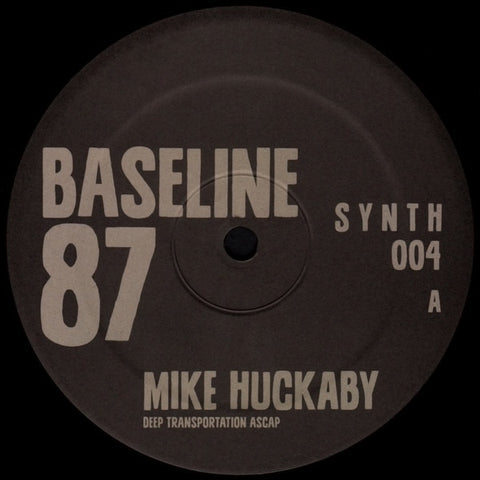 "Mike Huckaby - Baseline 87 - 12"" - S Y N T H - SYNTH 004"